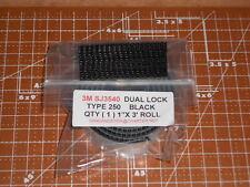 "3M RECLOSABLE FASTENER  BLACK  DUAL LOCK TYPE 250 1"" X 3FT ROLL SJ3540"