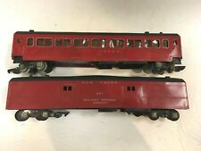 LOT OF 2 AMERICAN FLYER RED TRAINS #650 & #651 S SCALE FREE SHIPPING!