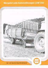 Mengele Lade- Automatikwagen LAW 350, orig. Prospekt 1975