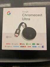 Google Chromecast Ultra HD 4K HDR WiFi Media Streaming Stick New Sealed !!