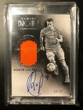 2016-17 Panini Noir Soccer Jersey Auto Card Robin Van Persie Autograph #54/65