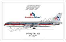 Boeing 757 American Airlines - Poster Profile