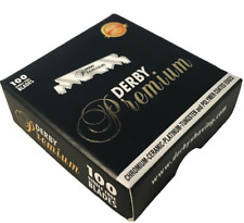 Derby Premium Professional Black | Single Edge Razor Blades | Pro Straight Edge