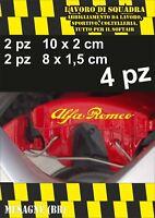 KIT 4 ADESIVI ALFA ROMEO sticker PINZE FRENO MITO 147 159 GIULIA STELVIO GIALLO