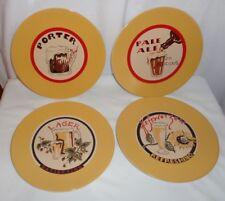 """Set of 4 Pottery Barn Beer Plates Appetizer Snack Salad Dessert 8.25"""""""