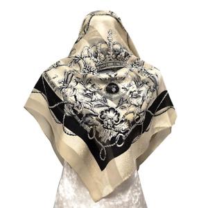 T3814 33x34 Free post Authentic Trussardi   silk scarf
