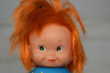 Vintage Red Haired Doll, Hard Plastic, Hong Kong