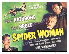 SPIDER WOMAN LOBBY TITLE CARD POSTER 1944 SHERLOCK HOLMES BASIL RATHBONE