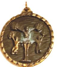 "Vintage 1.5"" Cheerleading Medal Award Cheerleader Pendant"