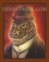 Godzilla Kaiju Pop Surrealism Art Retro Lowbrow Monster Movie Man Cave Print