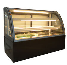 47'' Countertop Bekery Cabinet Display Case Glass Refrigerated Cake Showcase 220
