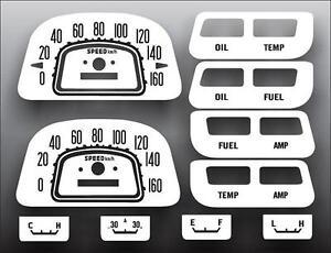 1964-1979 Toyota Landcruiser METRIC KPH Dash Instrument Cluster White Face Gauge