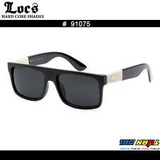New Locs Men's Flat Top Squared Wayfare Ivory Arms Designer Sunglasses 91075
