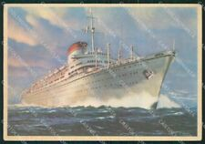 Genova Città Motonave Italia Società di Navigazione FG cartolina ZK5070