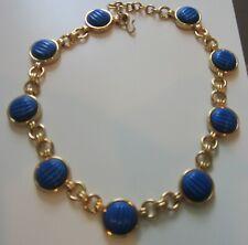 MONET FABULOUS VINTAGE BLUE STONE NECKLACE
