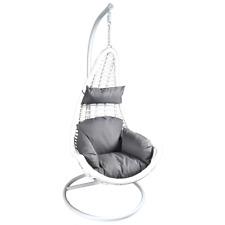 Hangstoel Schommelstoel Loungestoel Tuinstoel Terrasstoel Ligstoel Deluxe Wit