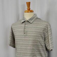Nike Tiger Woods Collection Men Xl Dri-Fit Polo Golf Purple Green Striped Shirt