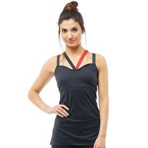 Reebok Womens Speedwick Power Mesh Cardio Long Bra Top - XL (UK 42 C) - BNWT