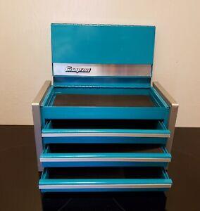 Snap-On Teal Miniature Mini Upper Top Tool Box Drawers Small Cabinet/Jewelry box