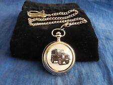 LAND ROVER (1) CHROME POCKET WATCH WITH CHAIN (NEW)