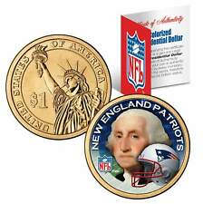 NEW ENGLAND PATRIOTS Colorized Presidential $1 Dollar Coin Football NFL LICENSED