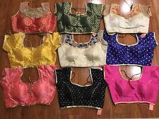 Readymade Saree Blouse,Designer Sari Blouse Dupion Silk Blouse Choli Top