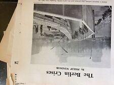 A1v ephemera article 1962 the berlin crises wall p windsor