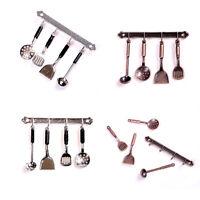 5pcs 1:12 Doll House Miniature Metal Kitchenware Dollhouse Model Cook Set、_FR