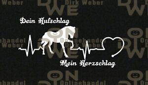 PFERDSTICKER HORSE AUTO AUFKLEBER STICKER CARSTICKER SCHWARZ PFERDEFAN HERZLINIE