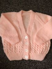 Baby Girls Brand new hand knit cardigan 3-6 months