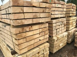 """New Green Oak Sleepers 2.4m x 200mm x 100mm 8ft x  8"""" x 4"""""""