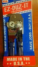 EZ DUZ IT American Made Blue Grips Manual Deluxe Can Opener - Made In The USA