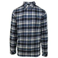 O'neill Men's Navy Redmond Plaid L/S Flannel Shirt (Retail $60)