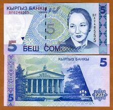 Kyrgyzstan, 5 Som, 1997, P-13, UNC