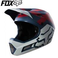 FOX Rampage Comp Preme Full Face MTB Helmet - Blue/Red/White