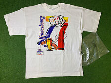 More details for kronenbourg vintag3 beer playing cards t shirt new old stock 1980s 1990s rare xl