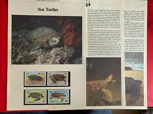 ANGUILLA 1983 PAGES x 6 MNH WWF SEA TURTLES