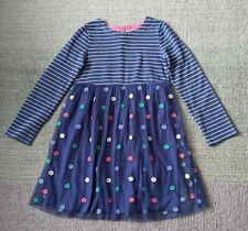 MINI BODEN Blue Polka Dot Party Dress Size 9-10 Years