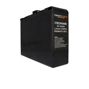 100Ah 12V Lithium Ion Battery Slim LiFePO4 Deep Cycle Camping RV Solar ITECH100S