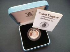 1988 ROYAL MINT SILVER PROOF £1 COIN HOUSED IN ROYAL MINT CASE WITH LEAFLET..