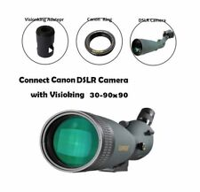 Visionking 30-90X90 Bird Watch Spotting scope W/ Canon Nikon DSLR Camera Mount
