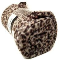 """Mainstays Fleece Throw Blanket 50"""" x 60"""" Leopard Cheetah Cat Print Lightweight"""