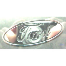 Ford Silver Chrome Sticker 60mmx24mm Vinyl Metallic Logo Exterior Car Body Part