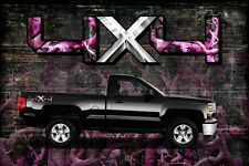2 Pack A48BLO 4X4 OFF ROAD Chameleon Camo 2 Pink Decals Bedside Truck Sticker