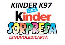 SORPRESINA SORPRESA KINDER  FERRERO da K97  N.1  a K097 N.118 A SCELTA