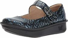 Alegria Paloma Women's Gothic Steel Synthetic with Rubber Sole Flat Shoes US 8 M