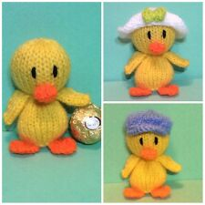 KNITTING PATTERN  - Easter Chick chocolate cover fits Ferrero Rocher