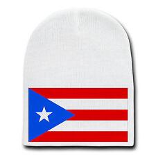 New listing Puerto Rico World Country National Flag White Beanie Skull Cap Hat Winter New