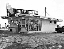 """5x7"""" photo 1950's DAIRY QUEEN  DRIVE-IN DINER BURGERS WALK UP SERVICE #2"""