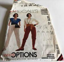 McCall's Patterns Lot of 2 Women's Pants, Shirts, Jacket, Jumpsuit #4476 & #5609